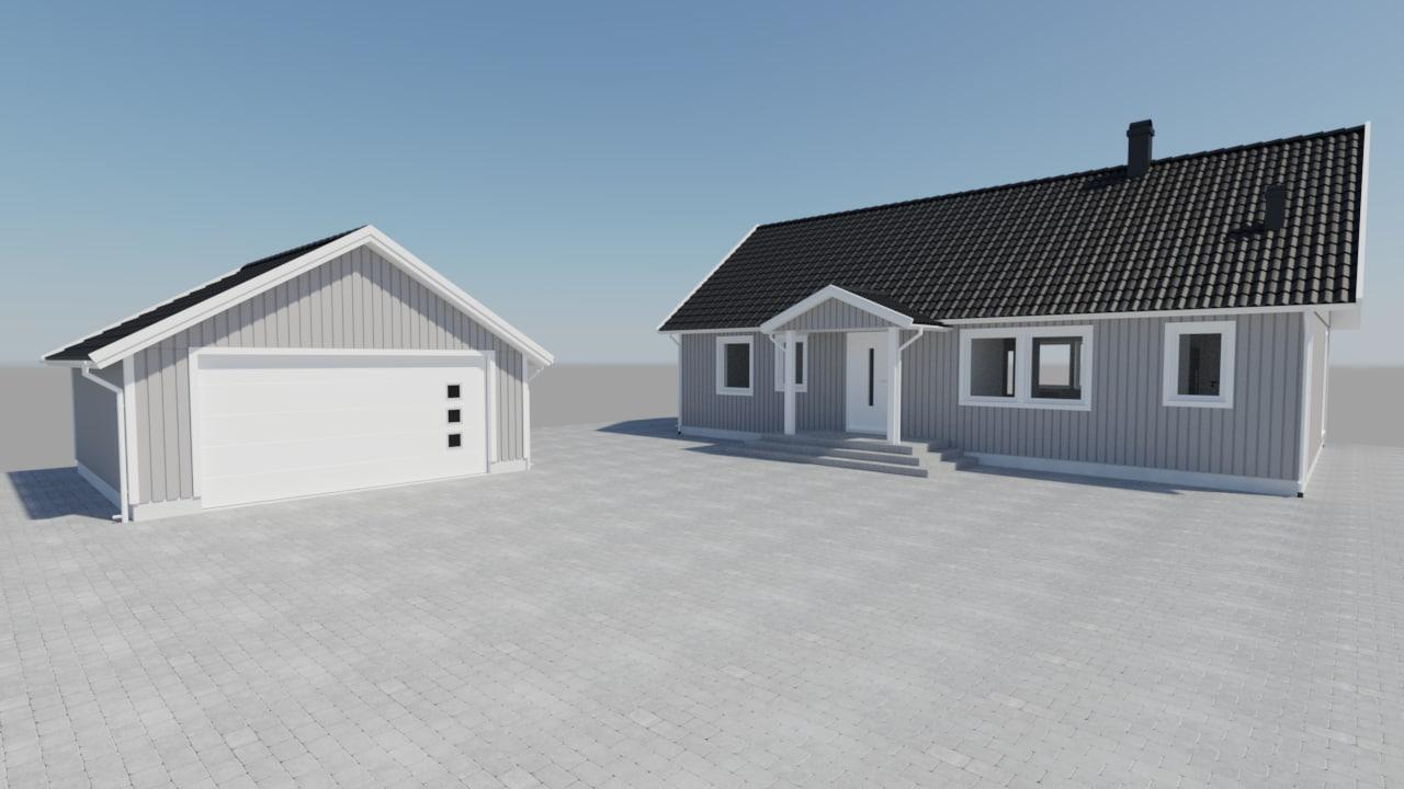 3d house staircase doors model