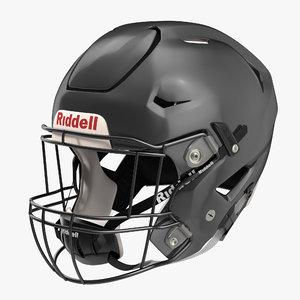 3d riddel speedflex helmet black model