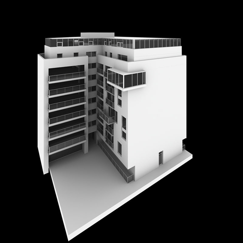 residential apartment 3d 3ds