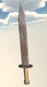 3ds max rusty sword