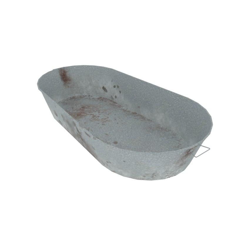 3d model washtub