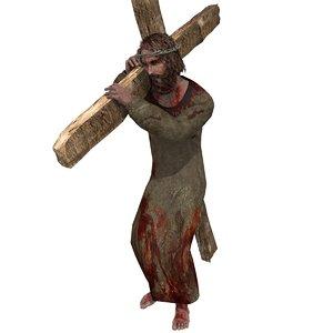 rigged jesus christ 3d 3ds