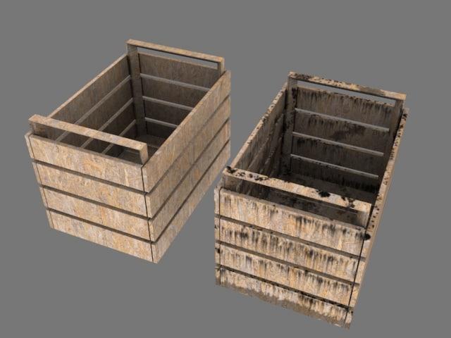 free boxes open 3d model