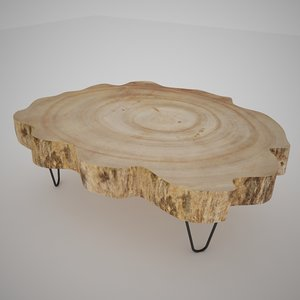 3d coffee table slice model