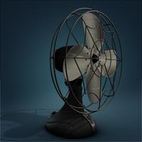 3d vintage fan model
