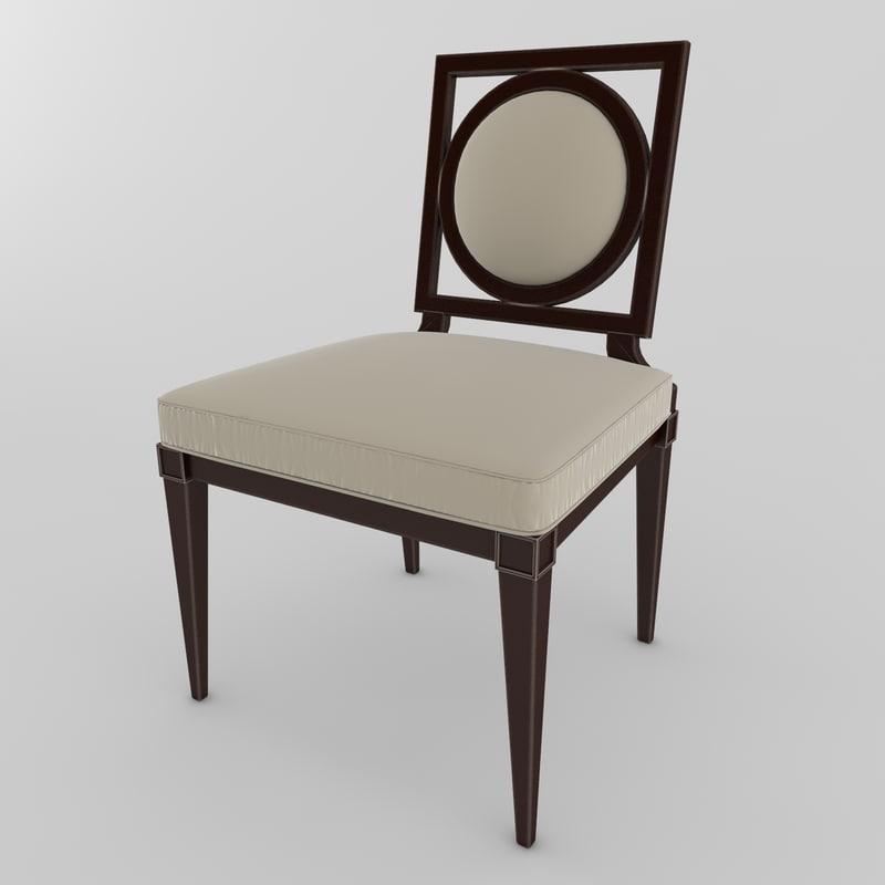 chair baker louisdiningsidechair 3d model