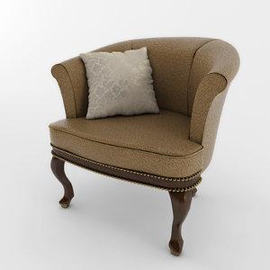 3d chair classik 02 model