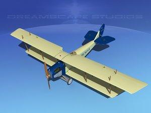 3d model propeller curtiss jenny air