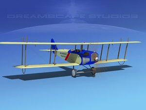 cockpit curtiss jenny 3d model