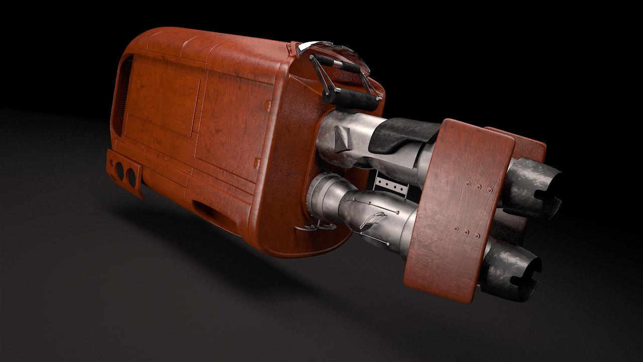 speeder star wars 3d model