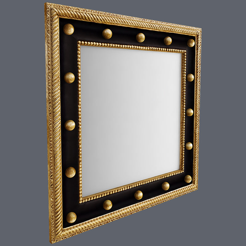 square wall mirror 3d model
