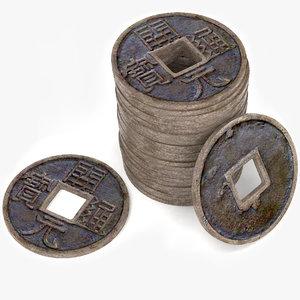 3d ancient china yuan model