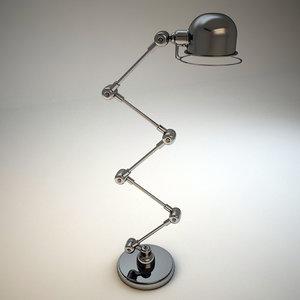 3d metal floor lamp