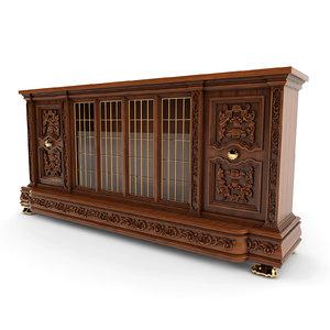 chest antique classic 01 3d 3ds