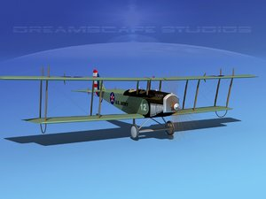 cockpit curtiss jenny army 3d 3ds