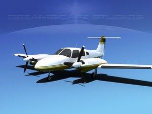 3d piper seminole pa-44-180t turbo model