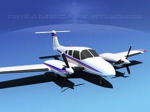 piper seminole pa-44-180t turbo 3d 3ds