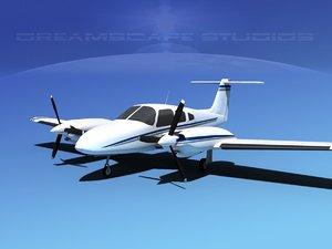 3d 3ds piper seminole pa-44-180t turbo