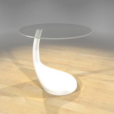 3d model of end table