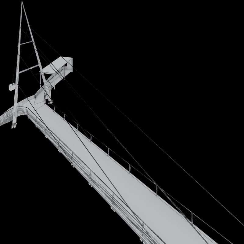 footbridge bridge 3d model