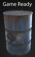oil barrel 3d x