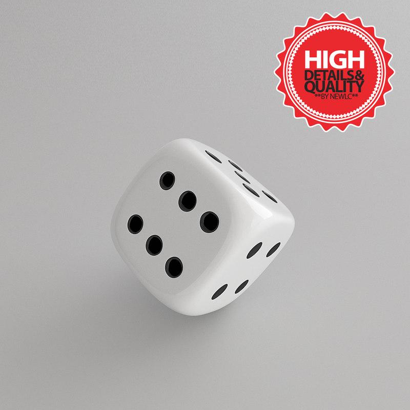 3d model dice modeled