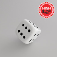 3d model dice modeled