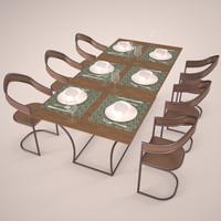 max modern table set