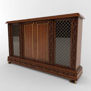 3d model chest antique classic