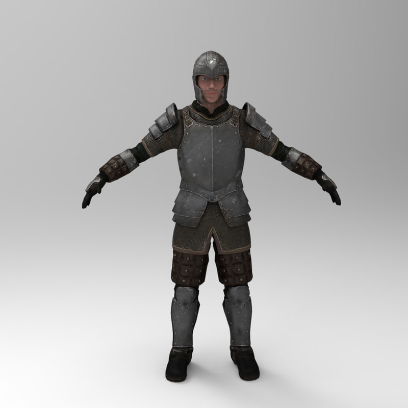 3d knight games - iron armor
