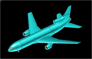 lockheed l1011 aircraft solid dwg