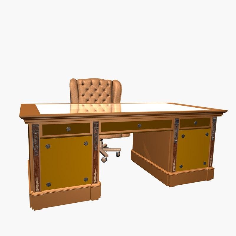 nobili darte cabinet desk 3d 3ds