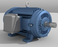 electric motor 3d dxf