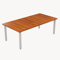 3d rectangular table model