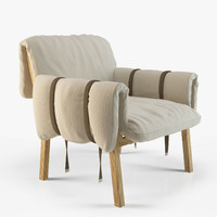 3d chair moroso strapped diesel model
