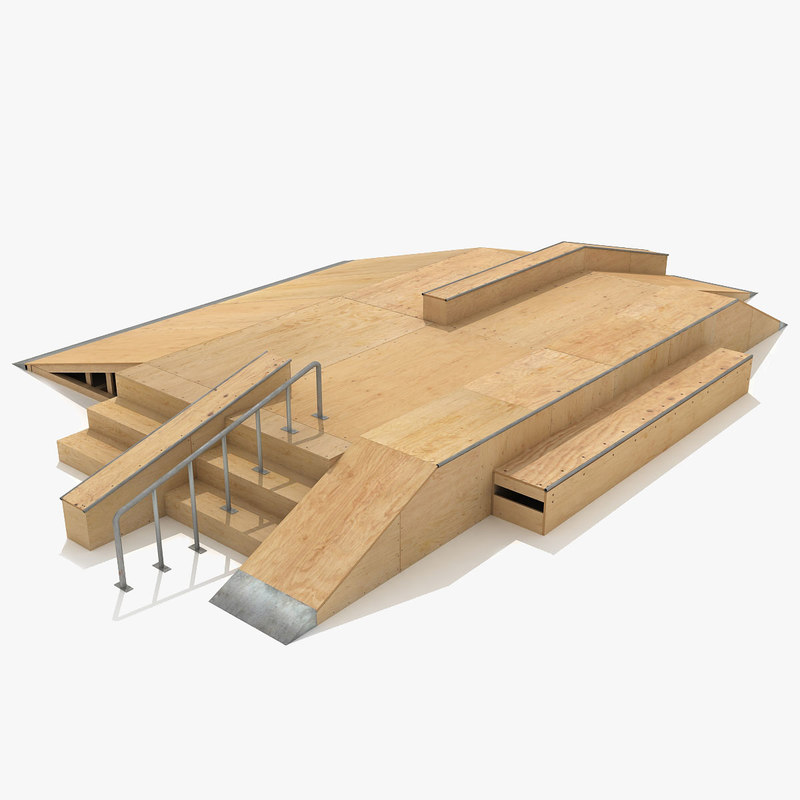 3d skate ramp fun box