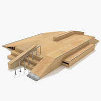 3d skate ramp fun box