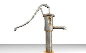 old water pump 3d model