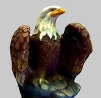 3ds max eagle mesh