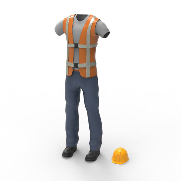 3dsmax construction worker cloth