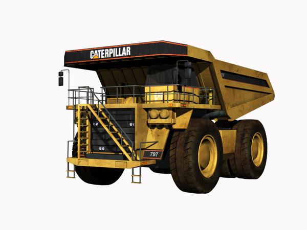 3d mining dump truck model