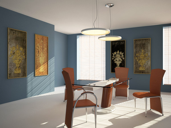 dinning room set chair table 3ds