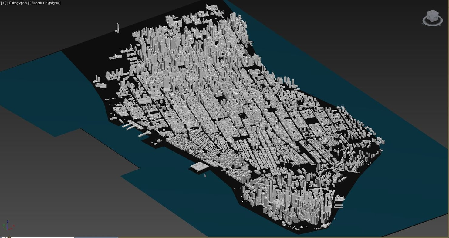 new york city skyline 3d obj