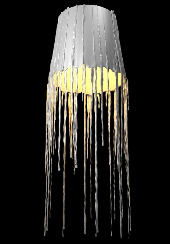 3d obj wax lamp icycle