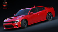 3d dodge charger srt hellcat