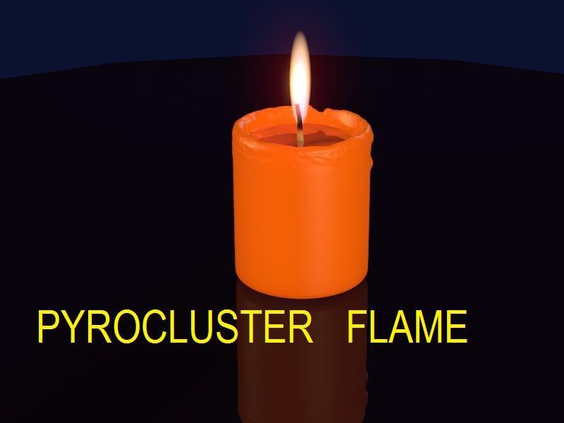 candle pyrocluster 3d c4d