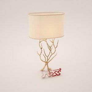 3dsmax table lamp delisle
