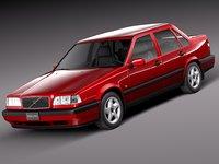 3d model sedan 1997 1991