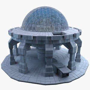 3d model dome city mht-02