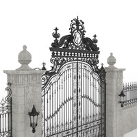Exterior Mansion Gate